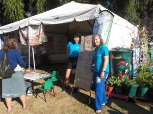 Setting up the Enviroshools tent