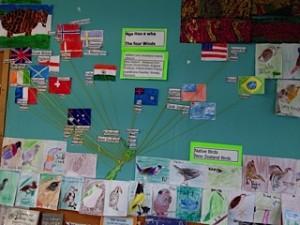 class ancestors mapped - native birds below