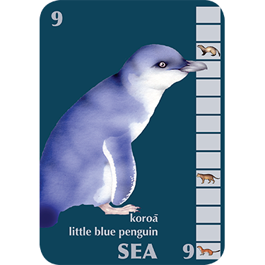 Blue Penguin card