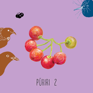 Puriri 2 berry card