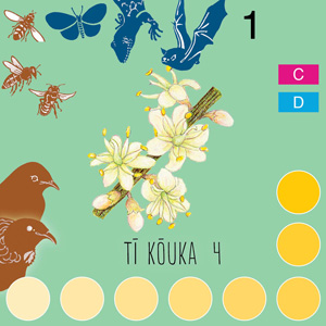 Ti kouka 4 flower card